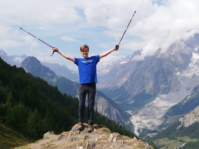 Malthe vandrede rundt om Mont Blanc