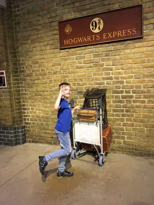 Louie var på Harry Potter-tur til London