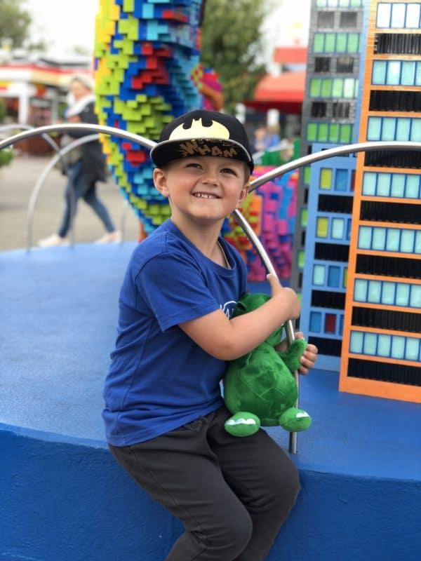 James havde de bedste dage i Legoland