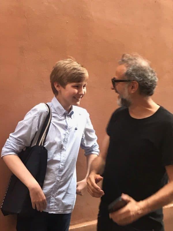 Johan blev behandlet som en en kongelig på gourmetrestaurant i Italien