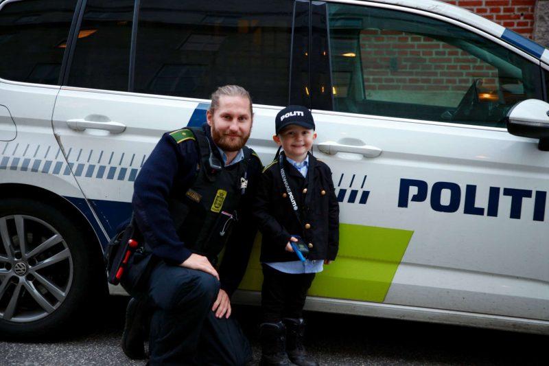 Kalle var politibetjent for en dag