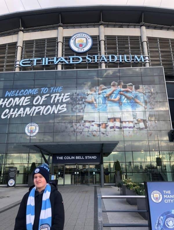 Mathias´ tur til Manchester City fodboldklub